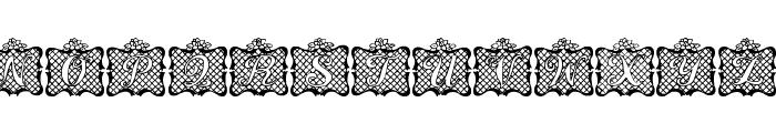 Lattice Letter Font UPPERCASE