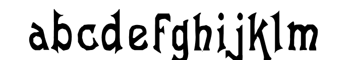Laughing Frog Font LOWERCASE