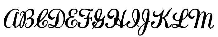 LaurenScript Regular Font UPPERCASE