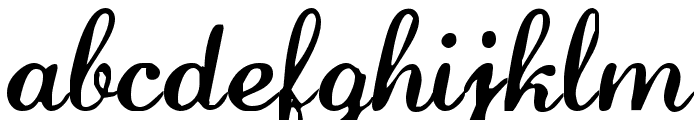 LaurenScript Regular Font LOWERCASE