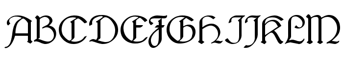 Lautenbach Normal Font UPPERCASE