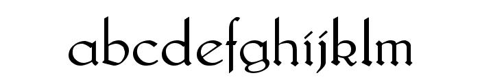 Lautenbach Normal Font LOWERCASE