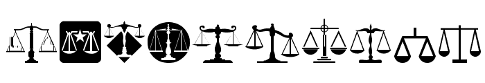 Law & Order Font OTHER CHARS
