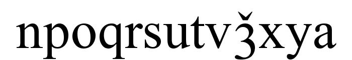 Lazuri ATHLETIC Font LOWERCASE
