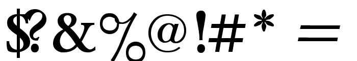 Lazurski Bold Font OTHER CHARS