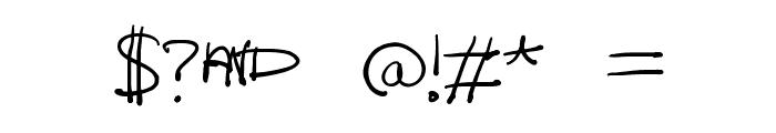 Lazy Riza Font OTHER CHARS