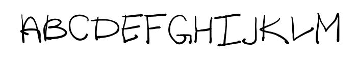 Lazy Riza Font UPPERCASE