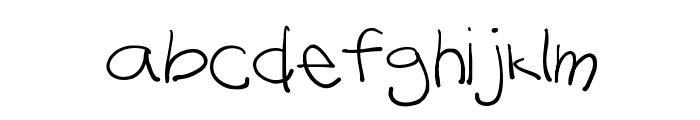 Lazy Riza Font LOWERCASE