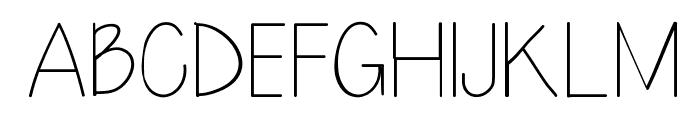 LazyDay Font UPPERCASE