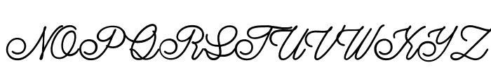 LazyRidePersonalUse-Regular Font UPPERCASE