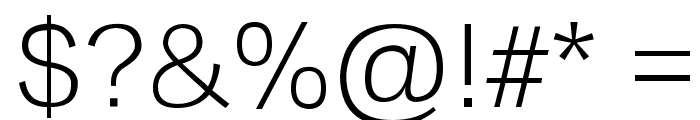 Lantinghei TC Extralight Font OTHER CHARS