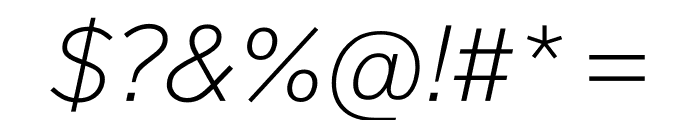 Lab Grotesque Thin Italic Font OTHER CHARS
