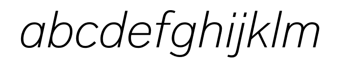 Lab Grotesque Thin Italic Font LOWERCASE
