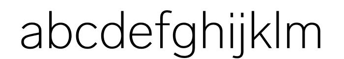 Lab Grotesque Thin Font LOWERCASE