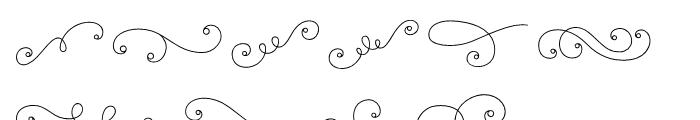La Chic Flourishes Outline Font OTHER CHARS