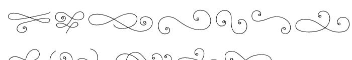 La Chic Flourishes Outline Font UPPERCASE