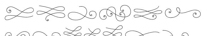 La Chic Flourishes Outline Font LOWERCASE
