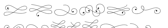La Chic Flourishes Font LOWERCASE