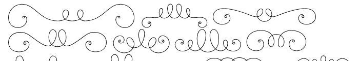 La Chic Frames Outline Font UPPERCASE