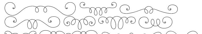 La Chic Frames Outline Font LOWERCASE