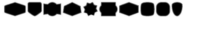 Label Pro XL Black Border Font OTHER CHARS