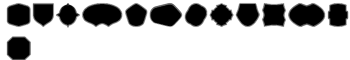 Label Pro XL Black Border Font UPPERCASE