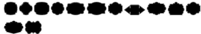 Label Pro XL Black Border Font LOWERCASE