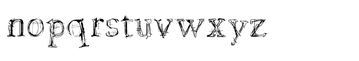 LamentaX Regular Font LOWERCASE