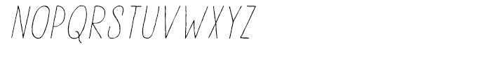 Lampion Italic Font UPPERCASE