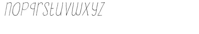Lampion Italic Font LOWERCASE