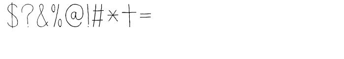 Lampion Regular Font OTHER CHARS