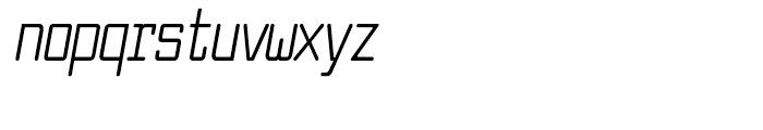 Larabiefont Compressed Italic Font LOWERCASE