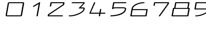 Larabiefont Extrawide Italic Font OTHER CHARS