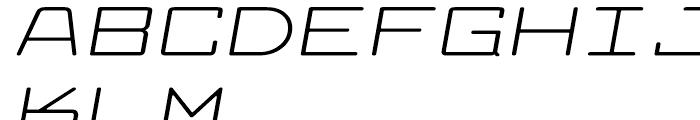 Larabiefont Extrawide Italic Font UPPERCASE