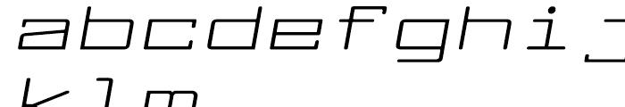 Larabiefont Extrawide Italic Font LOWERCASE