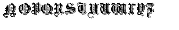 Large Old English Riband Regular Font UPPERCASE