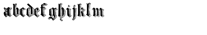 Large Old English Riband Regular Font LOWERCASE