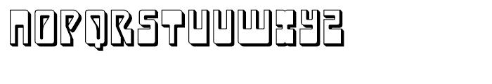 Laser Disco Extruded Font UPPERCASE