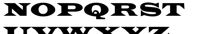 Latin 2 Wide Font UPPERCASE