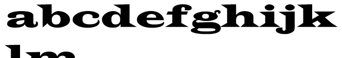 Latin 2 Wide Font LOWERCASE