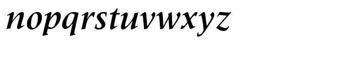Latin 725 Bold Italic Font LOWERCASE