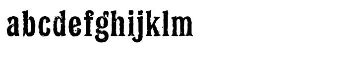 Latinate Rough Font LOWERCASE
