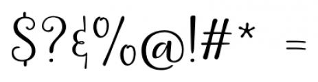 La Veronique Two Font OTHER CHARS