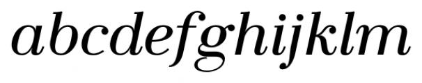 LaBodoni PlainItalic Font LOWERCASE