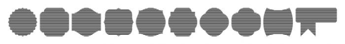 Label Pro XL Stripes Font OTHER CHARS