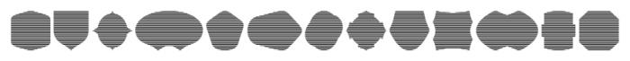 Label Pro XL Stripes Font UPPERCASE