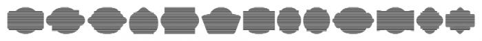Label Pro XL Stripes Font LOWERCASE