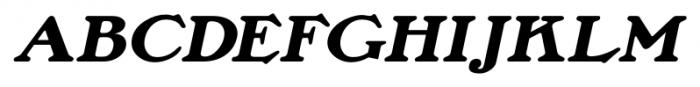 Lamp Post JNL Oblique Font UPPERCASE