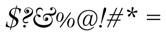 Lanston Bell Italic Font OTHER CHARS