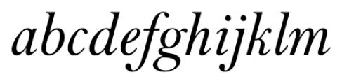 Lanston Bell Italic Font LOWERCASE